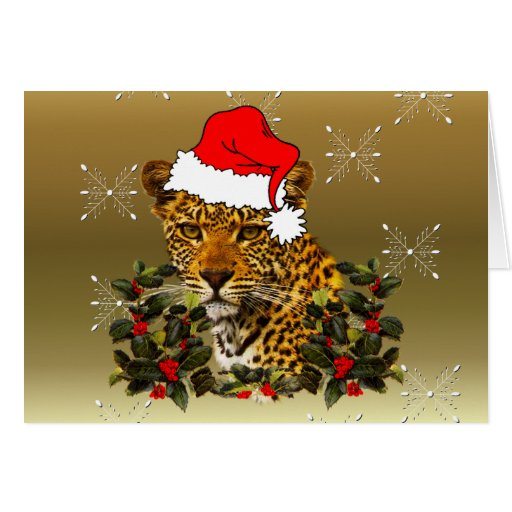 Christmas Wildcat Greeting Card
