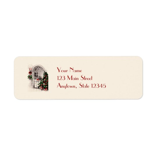 Christmas Window Return Address Labels