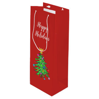 Christmas Wine Gift Bag Custom