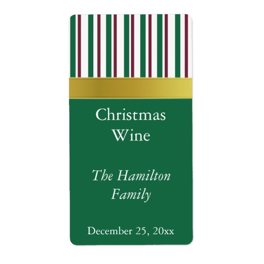 Christmas Wine Label