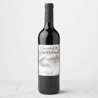 Christmas wine label. wine label