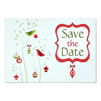 Christmas Wedding Save The Date Invitations & Announcements ...