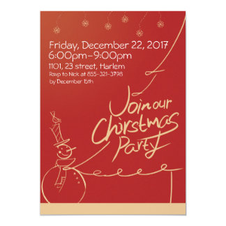 Christmas winter Holiday Party Inviation Card