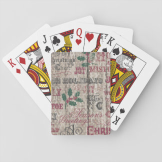 christmas winter holiday rustic playing cards