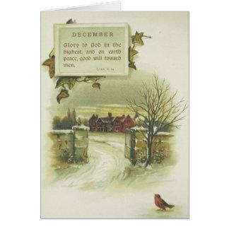 Christmas Winter House Greeting Card
