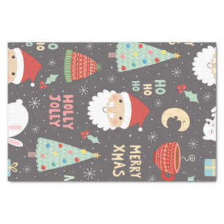Christmas Winter Night Whimsical Fun Holiday Tissue Paper