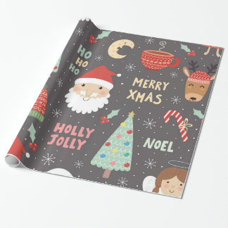Christmas Winter Night Whimsical Fun Holiday Wrapping Paper