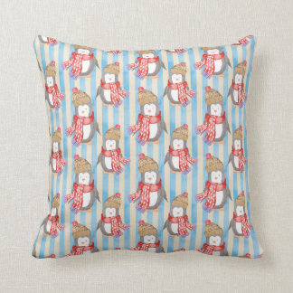 Christmas Winter Penguin Cushion