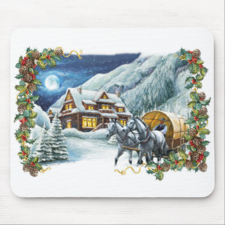 Christmas Winter Scene Mouse Pad
