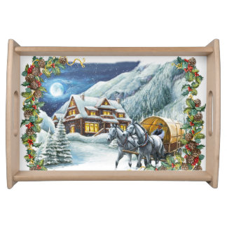Christmas Winter Scene Serving Tray