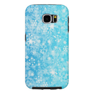 christmas winter snow flakes samsung galaxy s6 cases