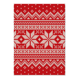 Christmas Winter Sweater Knitting Pattern - RED Card