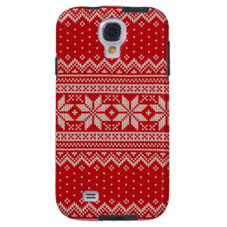 Christmas Winter Sweater Knitting Pattern - RED Galaxy S4 Case