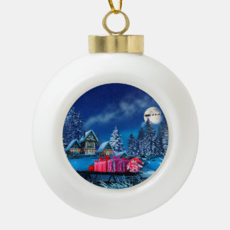 Christmas Winter Village Ball Ornament