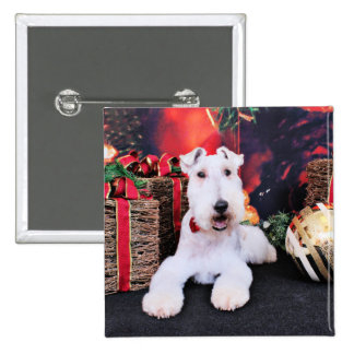 Christmas - Wire Fox Terrier - Dexter Pinback Button