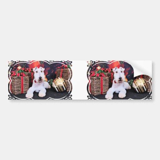 Christmas - Wire Fox Terrier - Dexter Bumper Stickers