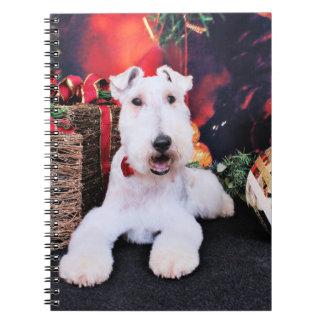 Christmas - Wire Fox Terrier - Dexter Note Book