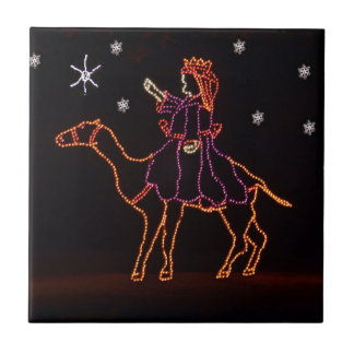 Christmas WIseman Star Camel ZZ H 2016 Small Square Tile