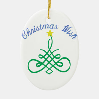 Christmas Wish Ceramic Ornament