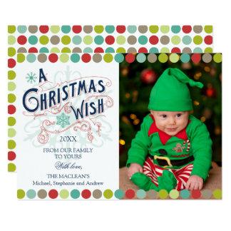 Christmas Wish Holiday Photo Card