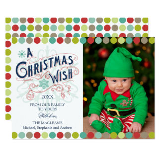 Christmas Wish Holiday Photo Card 13 Cm X 18 Cm Invitation Card