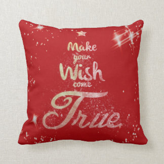 Christmas Wish Throw Pillow Scatter Cushion