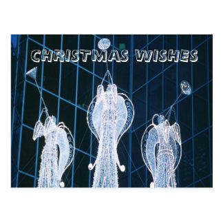 Christmas Wishes, angels on high Postcard