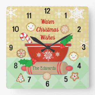 Christmas Wishes Holiday Custom Baking Clock