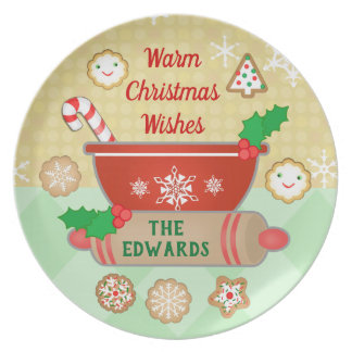 Christmas Wishes Holiday Custom Baking Plate