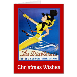 Christmas Wishes,Les diablerets, Switzerland Card