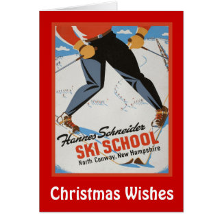 Christmas Wishes,Les Ski School Card