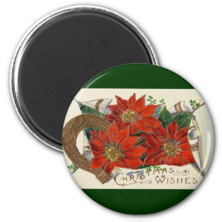 Christmas Wishes 6 Cm Round Magnet