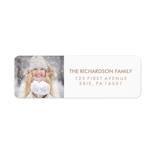Christmas Wishes   Photo Return Address Label