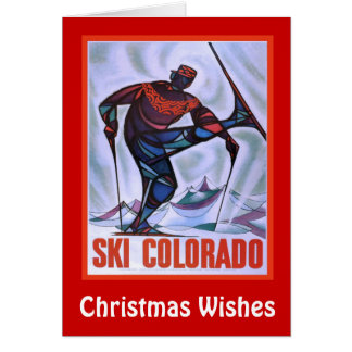 Christmas Wishes, Ski colorado Card