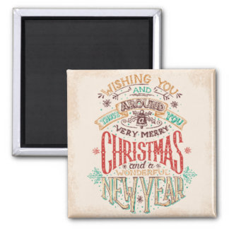 Christmas Wishes Square Magnet