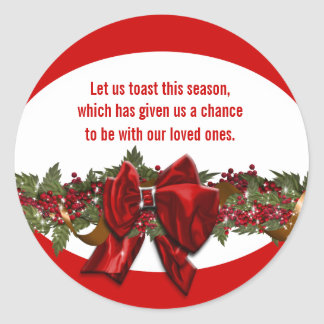 Christmas wishes verse PERSONALIZE Round Sticker