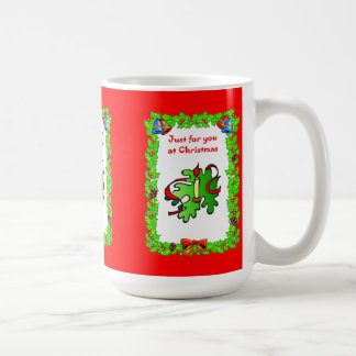 Christmas wishes, white candle coffee mug