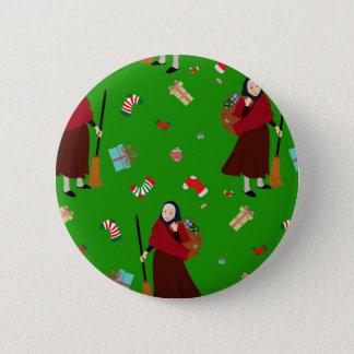 christmas witch Befana 6 Cm Round Badge
