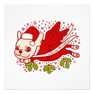 Christmas with a Frenchie Photo Print