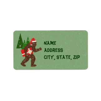 """Christmas with Bigfoot"" Address Label"