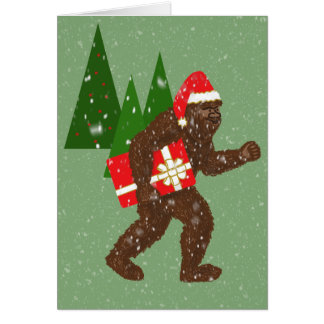 """""""Christmas with Bigfoot"""" Card"""