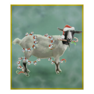 Christmas With Jada The Goat Poster