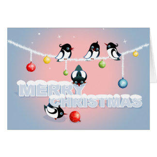 Christmas with Magpies and Bubbles 2 Card