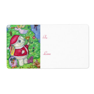 Christmas with Pookie - Gift tag Shipping Label