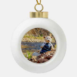 """""""Christmas with Sal"""" Ceramic Ornament"""