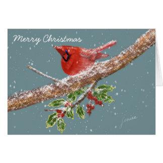 Christmas with snow card