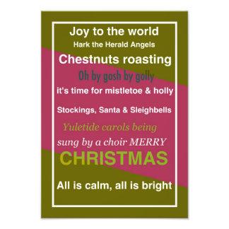 CHRISTMAS WORD ASSOCIATION PHOTOGRAPHIC PRINT