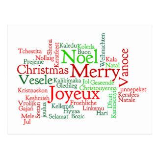 Christmas Word Cloud Postcard
