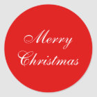 Christmas Wrapping Paper Round Stickers