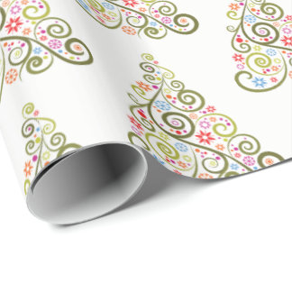 Christmas Wrapping Paper-Trees Wrapping Paper